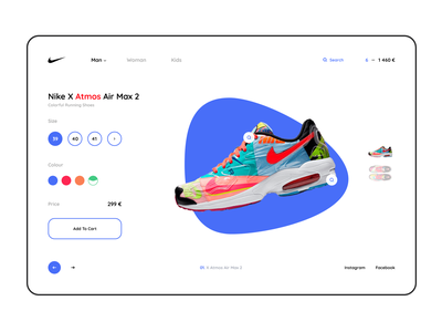 Just Nike red blue colors uiux gurami chachua gura nicholson stores shoes store shoes shop nike shoes nike ui nike website nike store store user interface easy life easy ux easy ui just do it nike