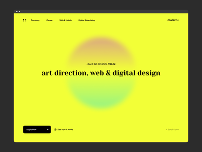 Miami Ad School Tbilisi product gradient type minimal typography branding 2021 user interface minimalism web design gura nicholson digital design art direction colorfull ui
