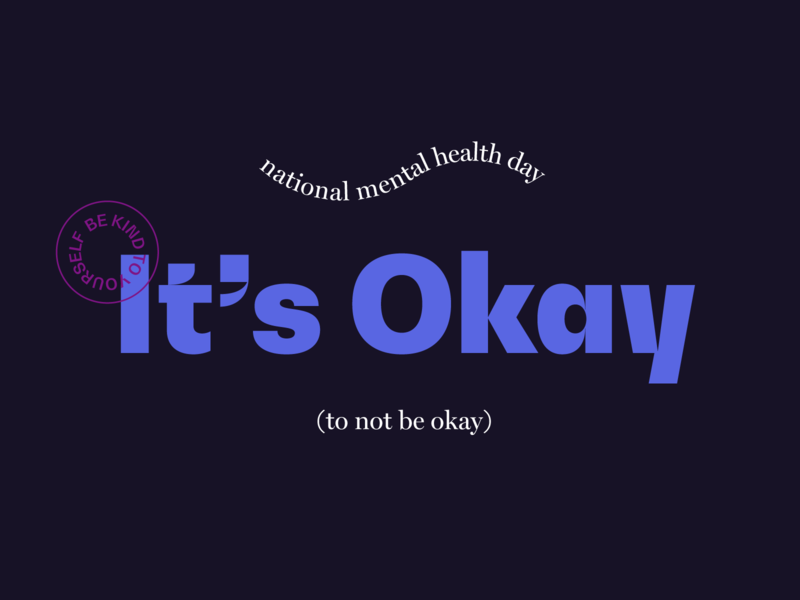 Mental Health Day kindness typography type empathy reminder quote mental health day mental health type exploration