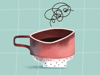 Coffee cup texture coffee cup mug cup coffee procreate illustration