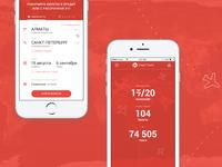 Mobile app concept for Kaspi.Travel