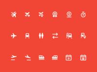 Icons for Kaspi.Travel app