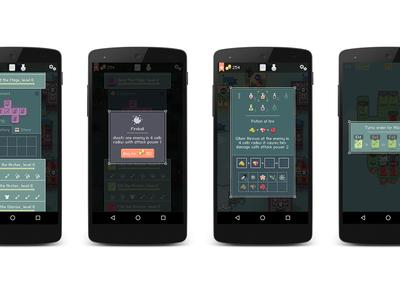UI for pixel art game Dice Heroes