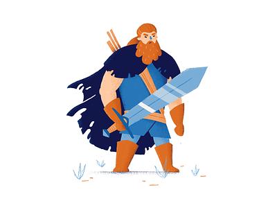 Hosvald fantasy art game art man swordsman sword warrior character design character rpg digital art procreate art procreate illustration digital illustration