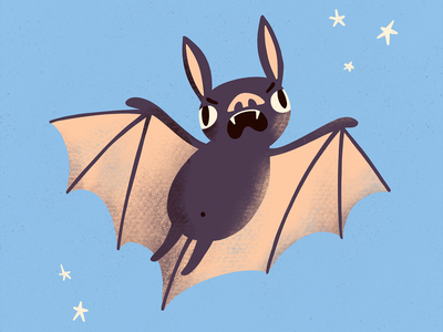 A bat character design character angry emotions animal illustration bat procreate art digital art procreate illustration digital illustration