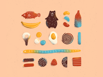 Swedish godis jelly beans jelly swedish godis candies sweets procreate art digital art procreate illustration digital illustration
