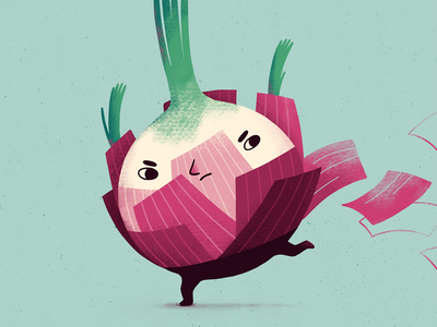 Onion boi boy run character design character onion plants procreate art digital art procreate illustration digital illustration