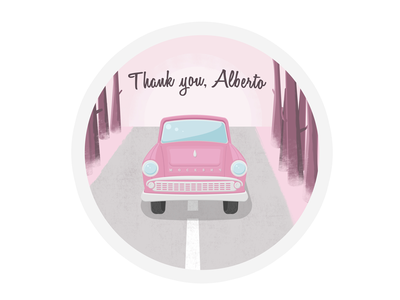 Hello Dribbble!  thanks car debut first shot illustration forest
