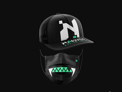 Racing Team Branding cap mask team logo team racer racing black dark branding branding design brand identity brand design