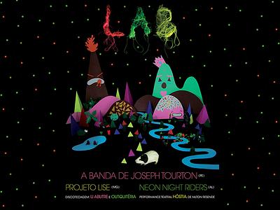 Lab neon colors guinea pig alba paper jazz festival poster