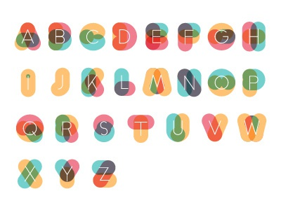 Colorful Alphabet typography experimental kids blend brazil alphabet colorful