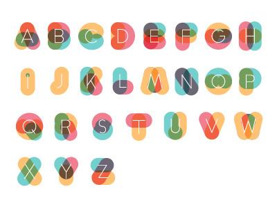 Colorful Alphabet typography experimental kids blend brazil alphabet colorful