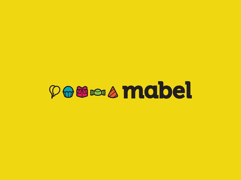 Mabel identity visual sweet party store supply mabel logo gift candy