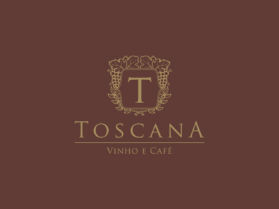 Toscana coffee grape wine italy tuscany toscana emporium cellar bistro logo