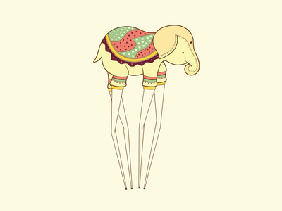 Elephant simona mereu omaggio salvador dali illustration elephant