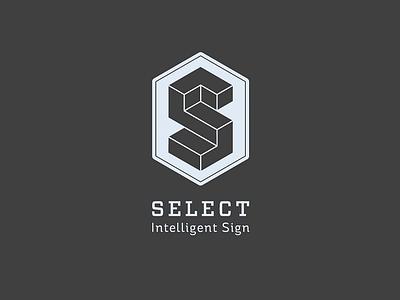 Select signage escher communication visual identity logo sign select