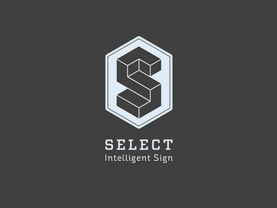 Select signage escher communication visual identity logo sign select