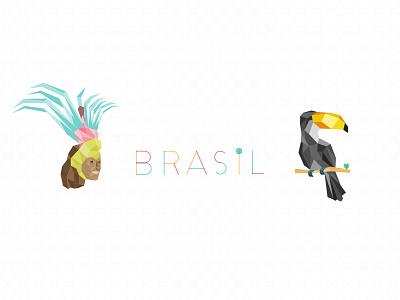 Brasil brasil geometic tropical brazilian bird tucano toucan carnival illustration brazil