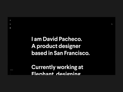 David Pacheco – Portfolio digital website fiat apple ui ux san francisco product design portfolio