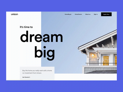 Unison - HomeBuyer pdp product page sell buy home slider motion calculator house web unison