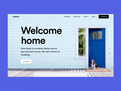 Unison - Home Co-investment testimonial welcome buyer owner sell buy unison homepage web home house