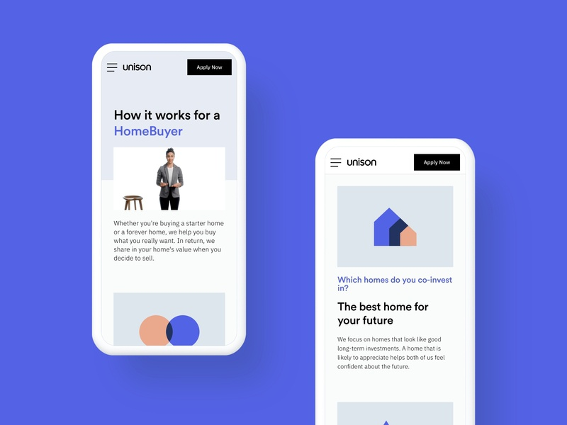 Unison – How it Works buy sell house home illustration responsive mobile web unison how it works