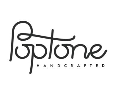 Poptone Logo handmade branding logo