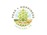 Peas + Hoppiness Logo Comp
