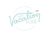 Your Vacation Plan Logo hand type logo branding