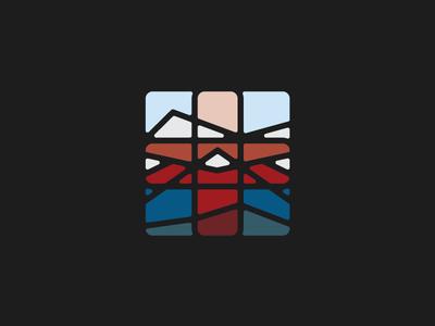 West Denver Endocrinology Icon medical colorado mountains icon logo branding