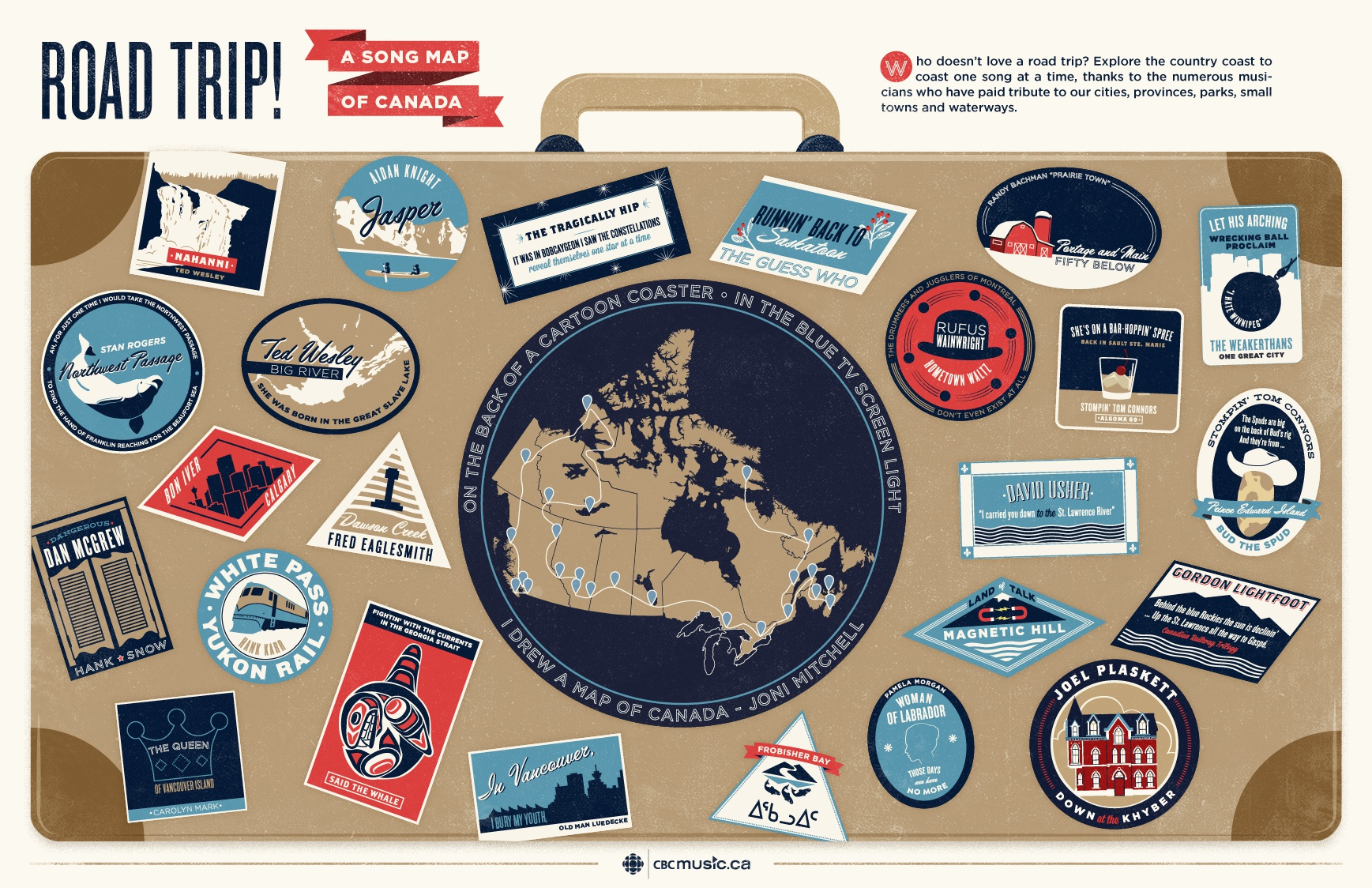 Map Of Canada Song.Dribbble Roadtrip Songmapofcanada Jpg By Samantha Leigh Smith