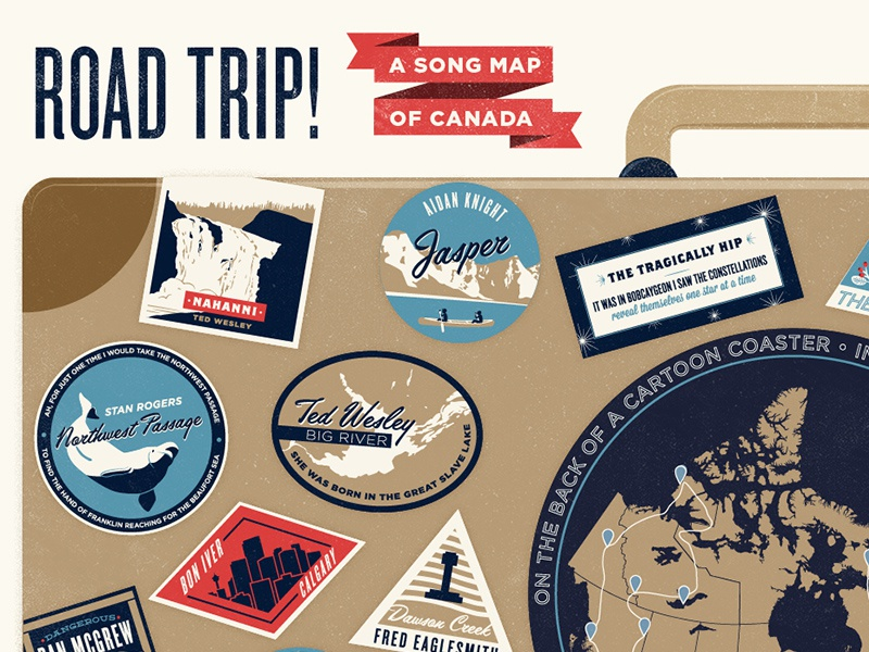 Map Of Canada Song.Song Map Of Canada By Samantha Leigh Smith Dribbble Dribbble