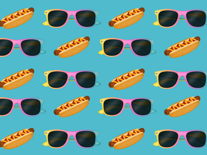 Festival Emojis emojis illustration icon hotdog sunglasses cbc