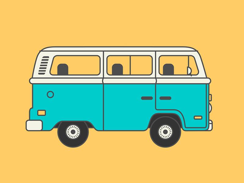 VW Bus illustration vw bus van