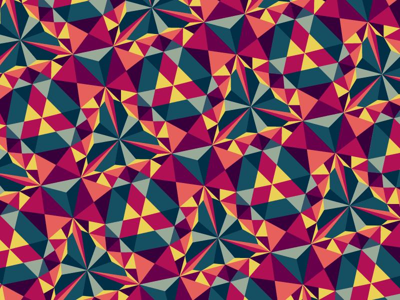 Kaleidoscope Pattern kaleidoscope pattern tri-force
