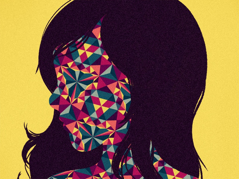 Björk illustration kaleidoscope pattern cbc bjork silhouette profile