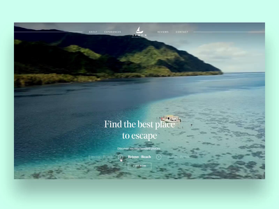 Travel site - video transition effects slow motion slowmotion sailing interaction smooth agency exploration explore journey video ui ux website web clean minimal motion design