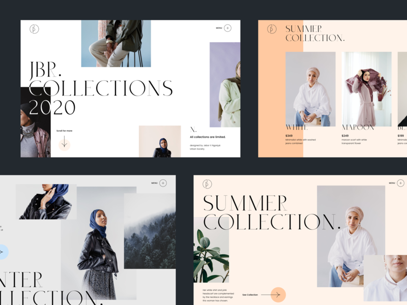 Jbr. Collections 2020 - Fashion Website branding ux ui web clean minimalist ecommerce editorial fashion website fashion design fashion brand