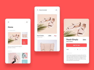 E-Commerce App concept ux ui mobile minimal ios illustration icon fashion ecommerce design color