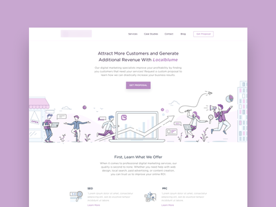 Digital Agency - Landing Page website web ui simple product page minimalism landing illustration icon clean
