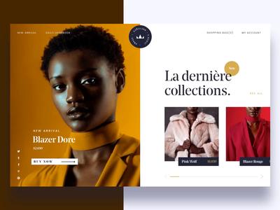 Fashion Boutique Website photography website website interaction fashion website design fashion branding ux fashion motion ui