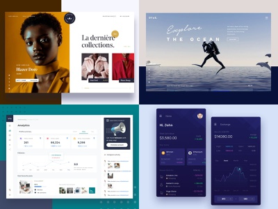 2018's popular clean design website web ux simple ui