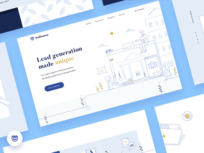 Unifinance Landing Page wordpress development finance landing page web branding simple ux website clean illustration ui