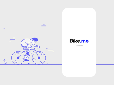 Bike.me - Welcome Screen Exploration iphone x ios ux product design app mobile simple clean ui illustration
