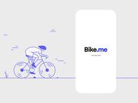 Bike.me - Welcome Screen Exploration