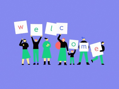welcome illustration welcome flat artwork meanimize minimalism simplicity branding pictogram illustration graphic