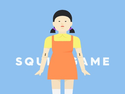 squid game - stage 01 logo pictogram branding graphic meanimize illustration squidgame