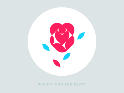 Beauty and the beast meanimize illustration icon graphic flat beautyandthebeast logo geometric movie