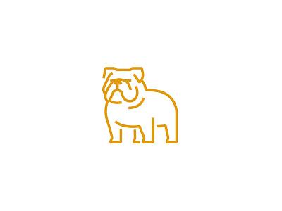 Bulldog icon logo illustration meanimize grahic pictogram dog identity animal bulldog