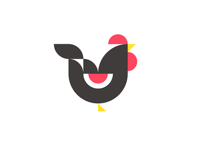 Chicken geometric isotype meanimize illustration graphic pictogram minimalism simplicity chicken